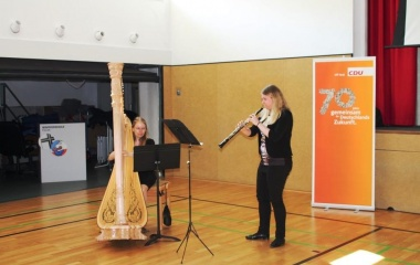 Das Duo Pasculli unterhielt musikalisch