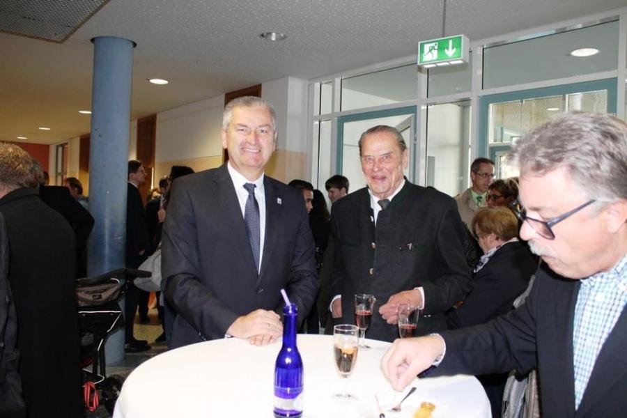 Landrat Woide und Dr. Richard Schute